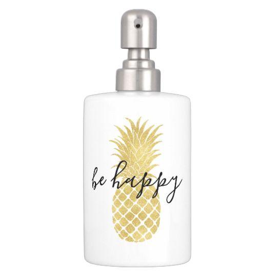 Gold Glitz Pineapple Bathroom Set Zazzle Com Bathroom Themes Mold In Bathroom Bathroom Sets