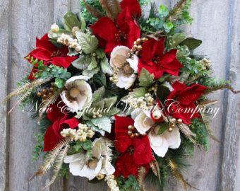 Christmas Wreath Holiday Wreath Williamsburg by NewEnglandWreath