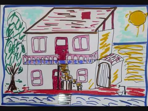 Glitter House Coloring And Drawing