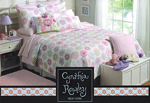 Toddler Bedding Cynthia Rowley 2pc Quilt Set Sophia Pink Turquoise ... : cynthia rowley quilt twin - Adamdwight.com
