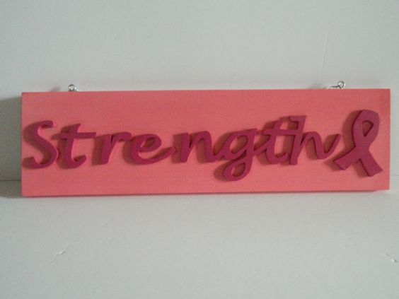 Strength Pink Ribbon Wall Plaque