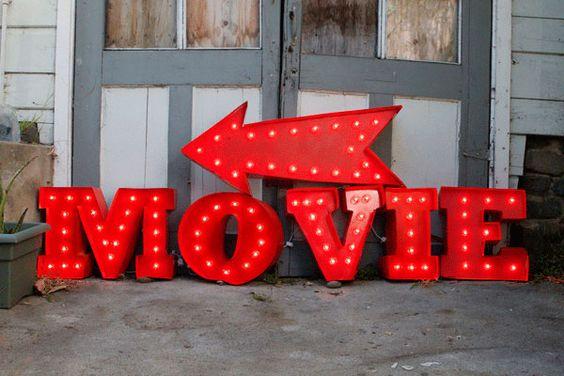 Idée déco mariage cinéma