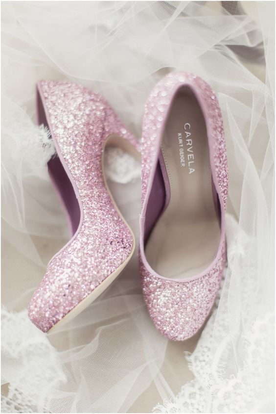 pink glitter pumps ~ we ❤ this! CARVELA Pink Gitter Shoes moncheriprom.com ♥•♥•♥: