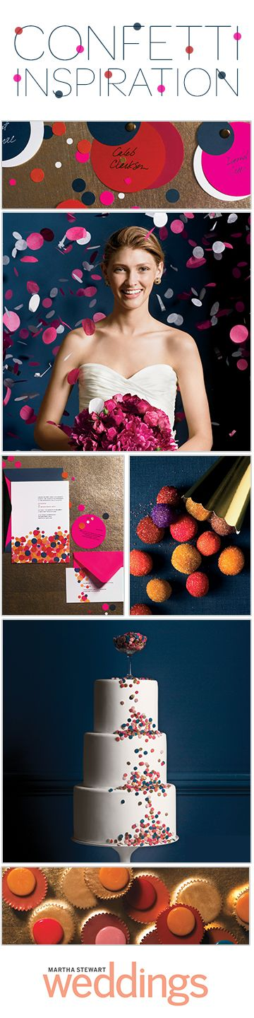 What says celebration more than a little confetti? See how to make this party staple wedding-worthy: Wedding Idea, Cake Pop, Wedding Magazine, Birthday Cake