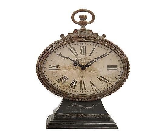 Reloj de sobremesa en hierro y vidrio Épicerie - alto 21 cm