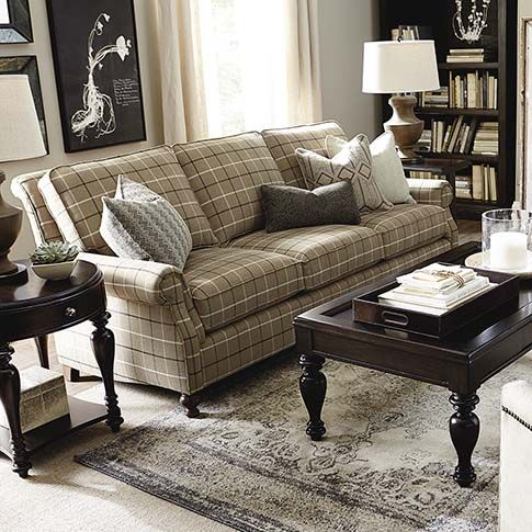 Best Carlisle Sofa By Bassett Bassett Custom Living 400 x 300