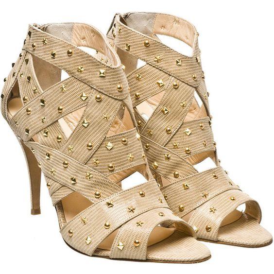 Bionda Castana Studded Cassie gladiator sandal ($485) found on Polyvore