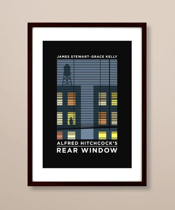 Rear Window poster Rear Window poster print Rear by TheIndoorType