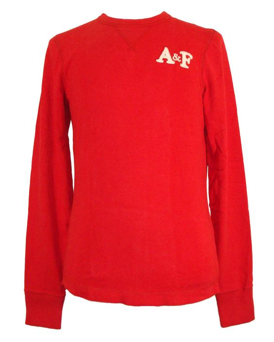 Abercrombie & Fitch Mens Shirt JOHNS BROOK Crewneck Muscle Tee Red Sz M NEW $50 #AbercrombieFitch #Crewneck