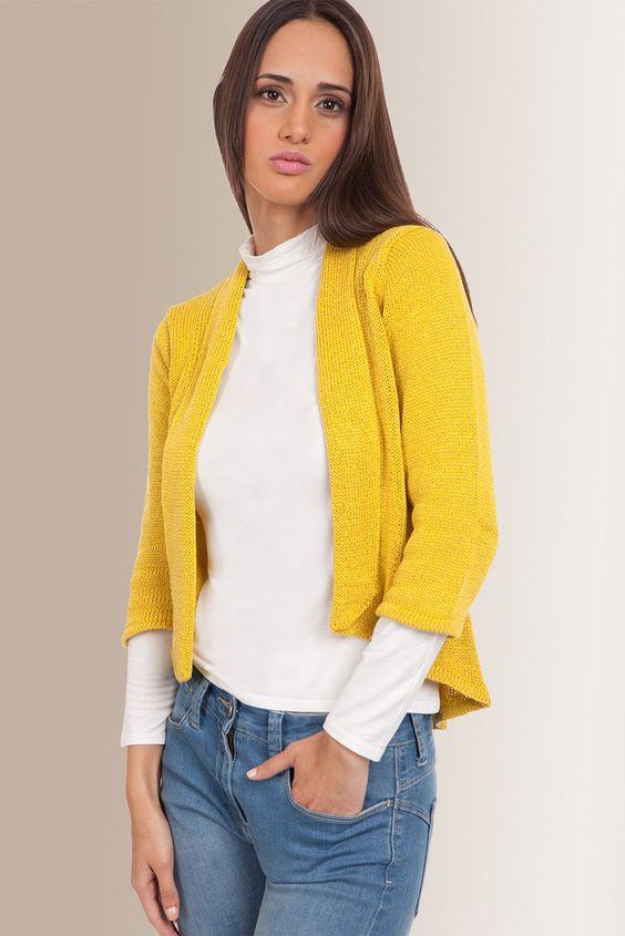 Suéter en desnivel