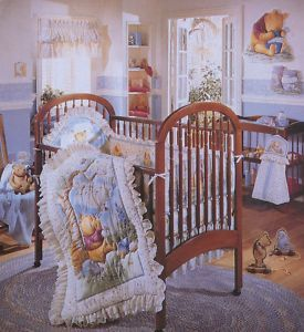 Crib bedding that has been purchased
