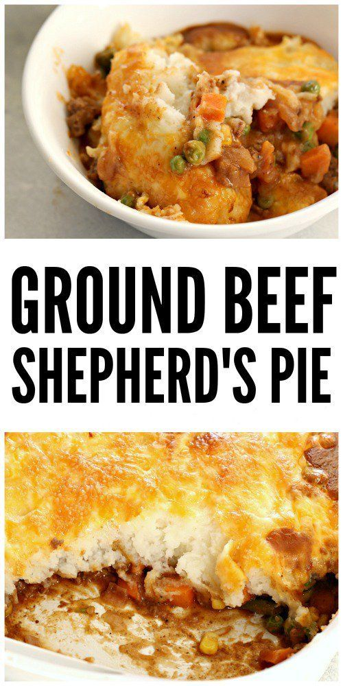Easy Ground Beef Shepherd S Pie Recipe Shepherds Pie Recipe Easy Easy Pie Recipes Sheppards Pie Recipe