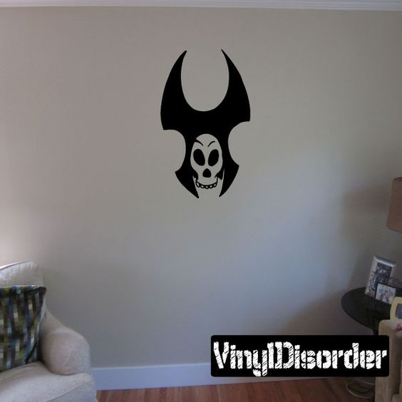 Skull Wall Decal - Vinyl Decal - Car Decal - CF043