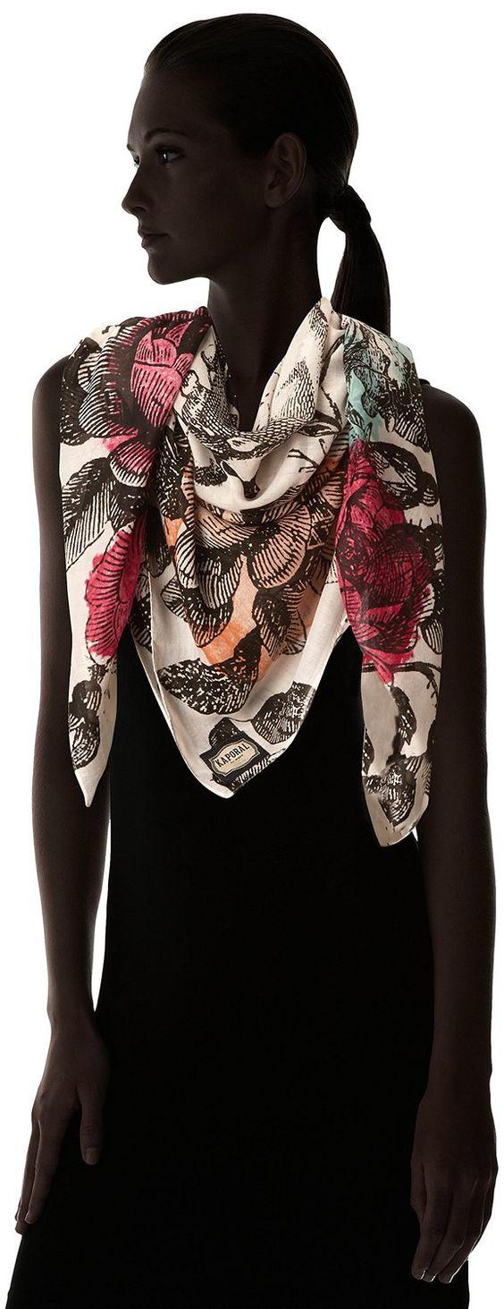Kaporal Perla - Foulard - Imprimé - Femme - Écru (Craie) - Taille unique (Taille fabricant: Taille unique): Amazon.fr: Vêtements et accessoires