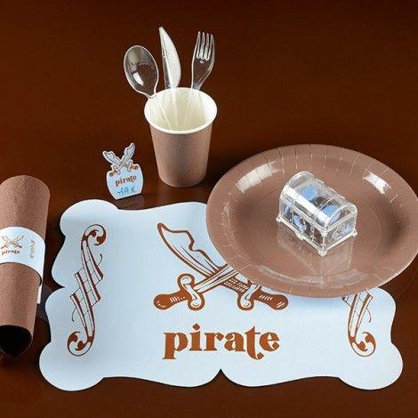 Dulcero transparente en forma de cofre para fiestas insfantiles tema pirata.