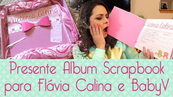 Álbum Scrapbook Flávia Calina- Scrapbook by Tamy