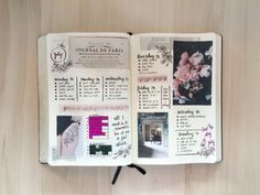 Journal de Paris ~ I found this old newspaper page and the flower picture and I just had to use them together in my spread! journalsanctuary.tumblr.com