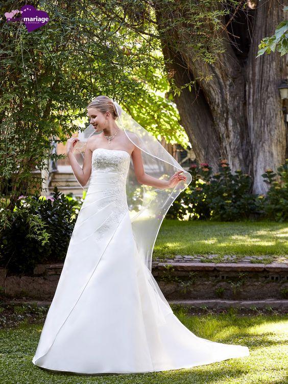 Robe de mariée Engaly, robe de mariée princesse, robe de mariage avec traine…