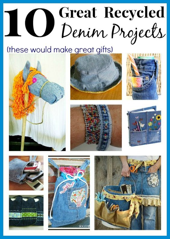 Upcycle Old Jeans Into Great Gifts