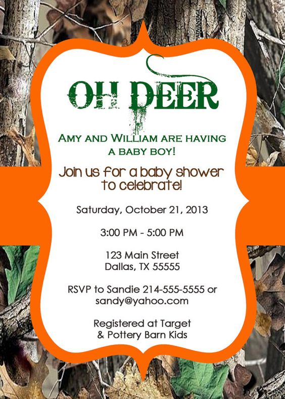 shower invites camo baby shower invitations camo invite invite theme