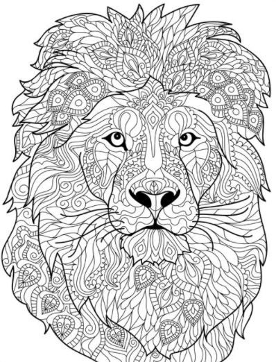 Mandalas De Animales Para Colorear Lion Coloring Pages Animal Coloring Books Mandala Coloring Pages