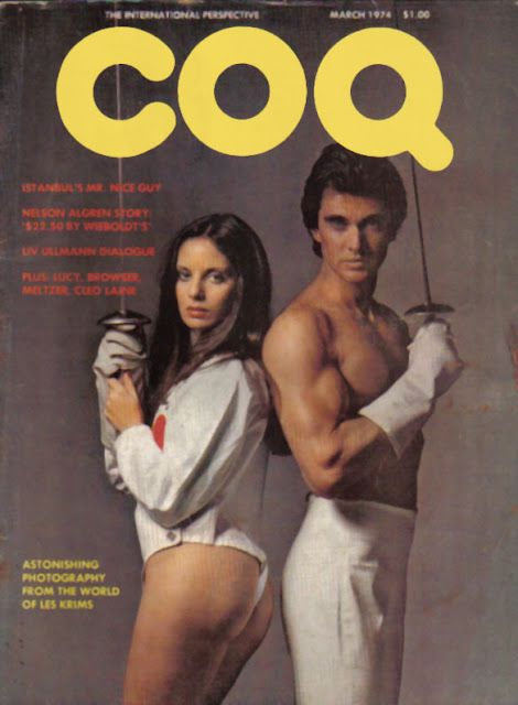 Wacky title of a magaine: Coq. Liv Ullman 1974