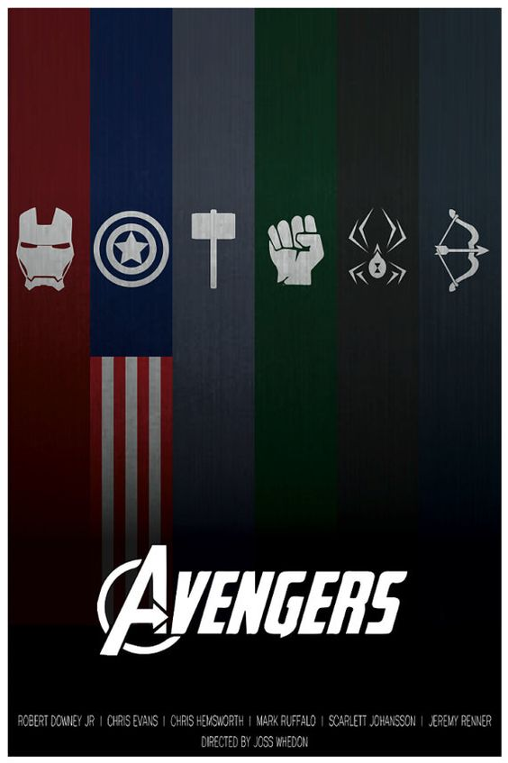 The Avengers Minimalist Poster by MinimalistPosterShop on Etsy