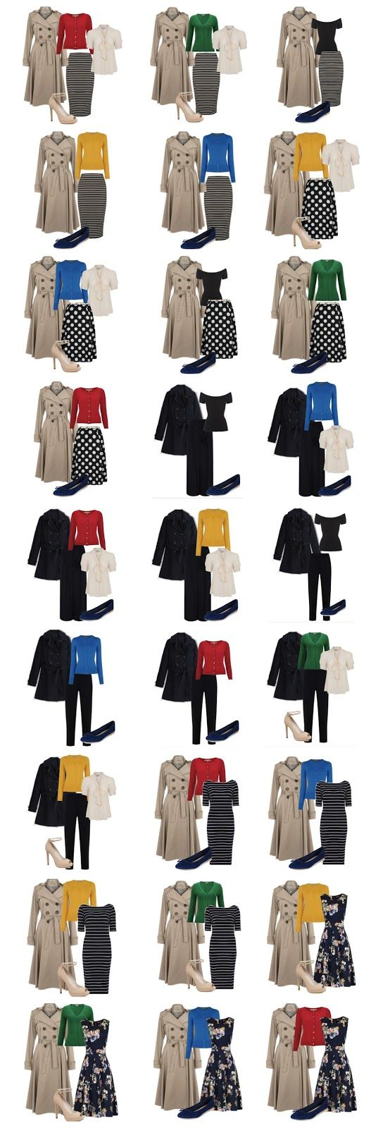 How to create and build a vintage and retro inspired capsule wardrobe for Spring. Vintage and retro style advice at www.vintagen.co.uk: