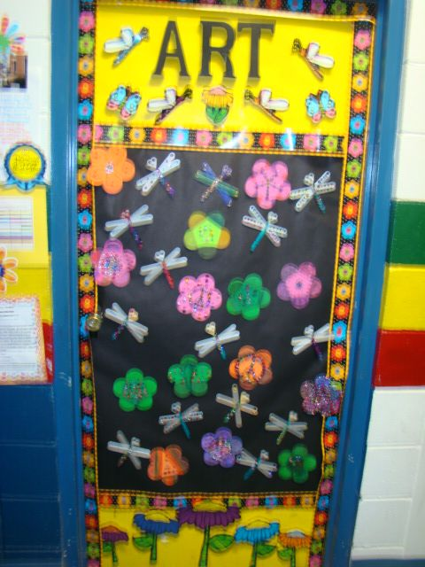 Craft sticks, jewels, gold & silver paint & markers & we have jeweled blooms & dragon fly's to welcome all to art!  Way to go 5th grade!