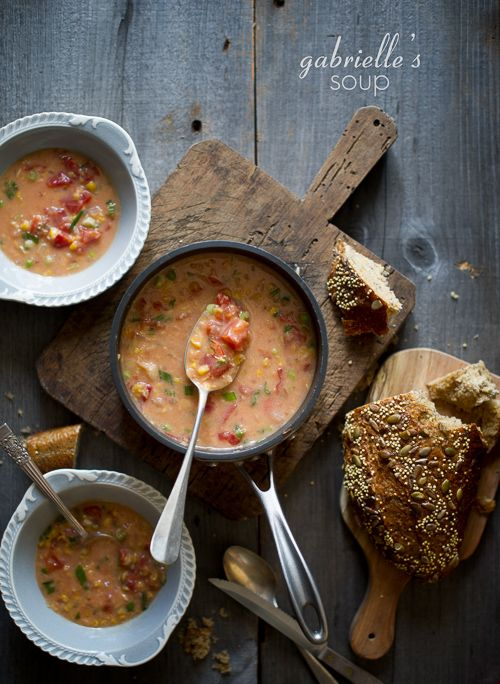 tomato and corn soup recipe: 1 can diced tomatoes, 1 can creamed corn ...