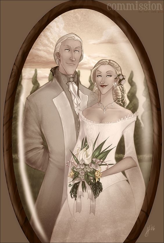 Wedding Portrait - Narcissa and Lucius