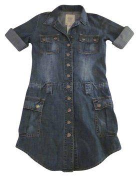 Levi's short dress Denim Mini Snaps on Tradesy $24.50