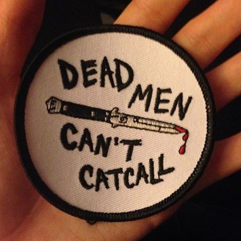 Patch by @duchessofdutches. .  Available now in her online store. .  Link clickable in her bio. .  Worldwide shipping now available. .  As always, 10% of profits are donated to a shelter that helps stop violence against girls & women. .  #patch #patches #patchgame #flickknife #switchblade #deadmen