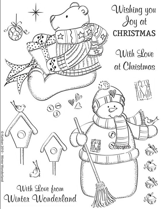 Kanban clear rubber stamps - Christmas - Winter Wonderland