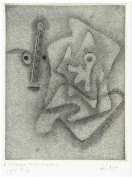 Artwork by Paul Klee, Tristan Tzara, L'Homme approximatif, Made of etching