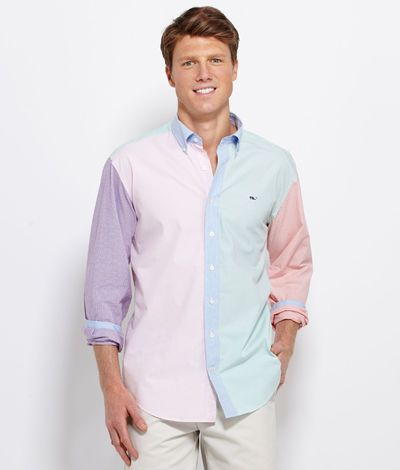 Multi colored button down shirt is shirt for Mens button down sport shirts