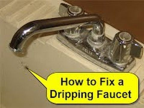 How To Fix A Dripping Faucet And Other Light Plumbing Repairs See His Whole Youtube Channel Deltakitchenfaucety Dripping Faucet Plumbing Repair Diy Plumbing