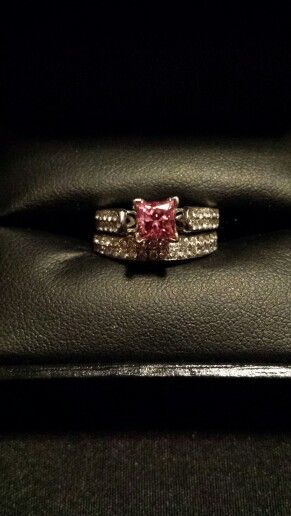 Pink diamond ring. I went through a few before finding the right shade of pink.