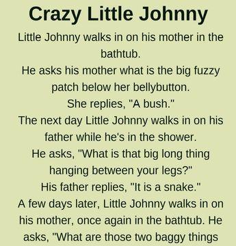 Little Johnny Funny Story Funny Mom Jokes Short Jokes Funny Funny Work Jokes