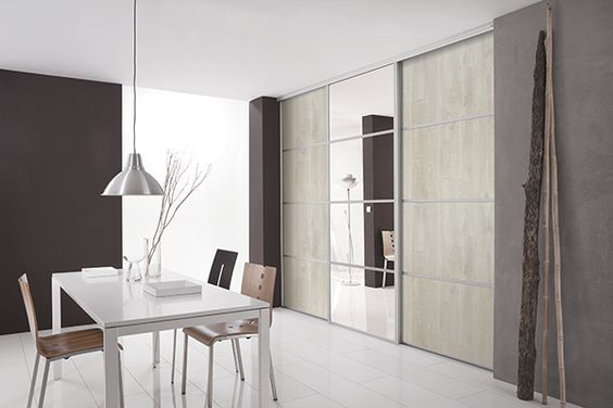 Kazed portes de placard coulissantes kanza bois flott - Portes de placard coulissantes miroir ...