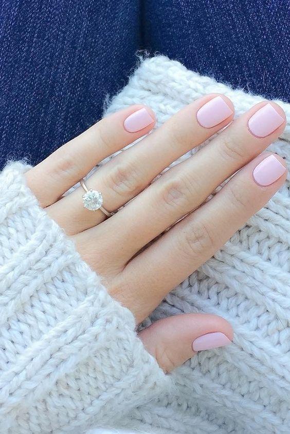 Inspiração de unha para noivas - Foto reprodução Pinterest
