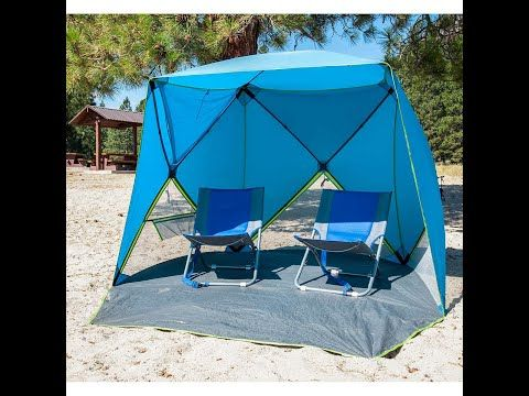 How To Assemble And Disassemble A Costco Old Bahama Bay Tent Youtube In 2020 Tent Beach Time Pop Up Beach Tent