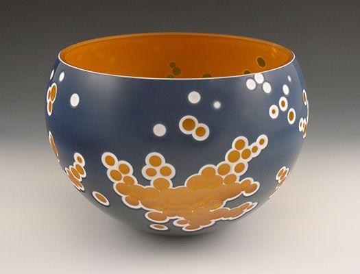 "Nick Leonoff ""Nebula #8""   carved blown glass http://www.morganglassgallery.com/imagepages/leonoff_nebula8.htm"