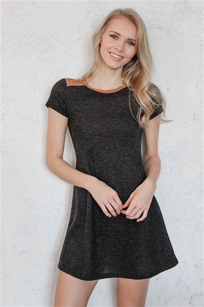 """The cutest skater sweater dress you'll EVER see! The """"On the Flip Side"""" dress. In store and online at Lauren Nicole."""