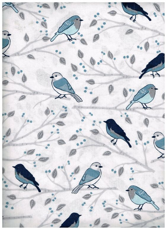 Fat Quarter BLU3058FQ 100% Cotton Fabric by OhSewWorthIt2Quilt
