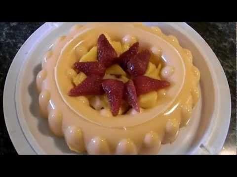 gelatina de naranja y leche condensada