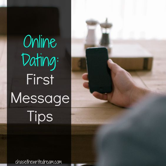 online dating first date message
