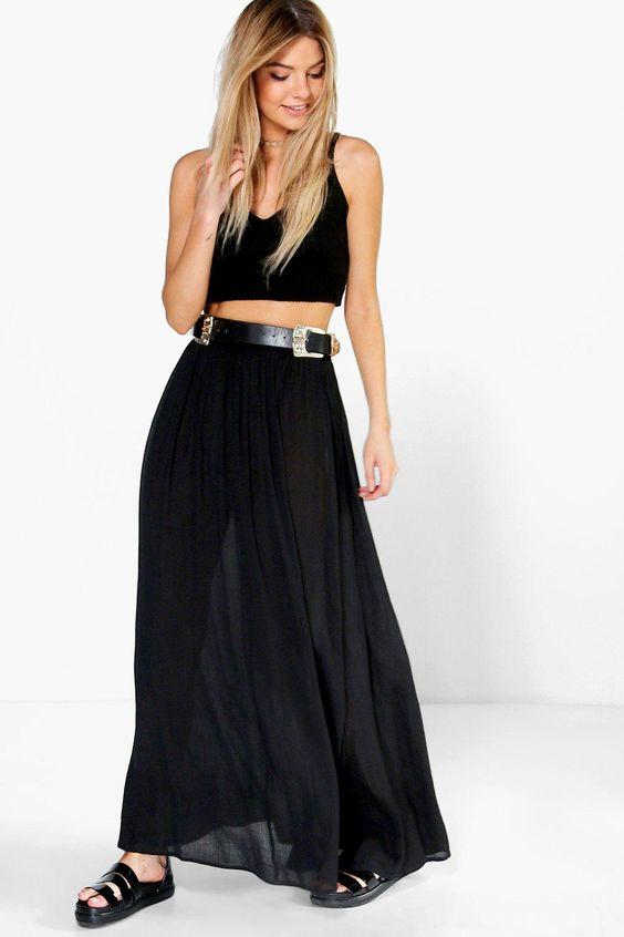 Vita Cheesecloth Maxi Skirt