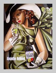 Absente Absinthe Refined art- Homage a Lempicka- by John Pacovsky
