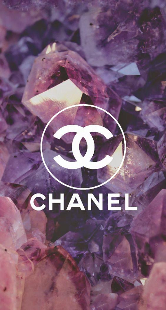 Coco Chanel Logo Diamonds iPhone 6 Plus HD Wallpaper